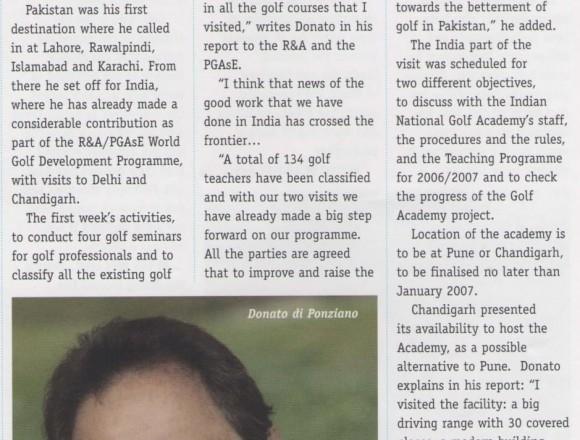 Golf Aid crosses India-Pakistan border