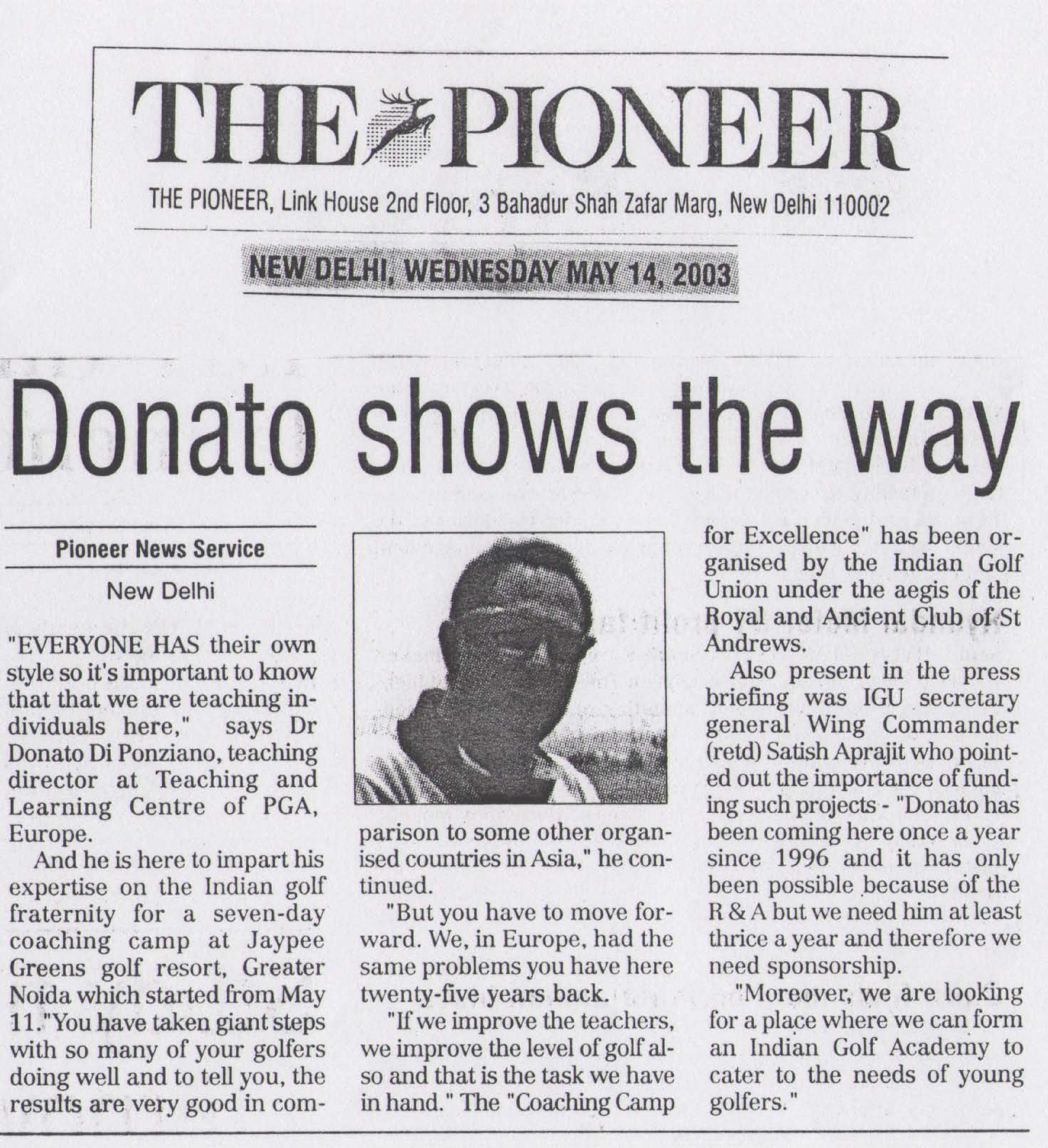 Donato shows the way
