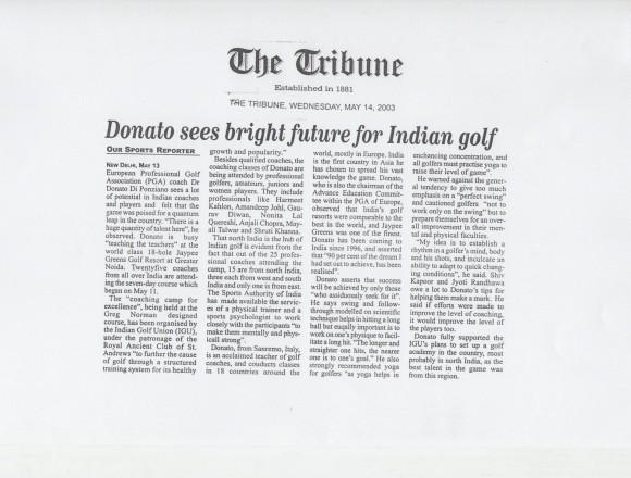 Donato sees bright future for Indian Golf