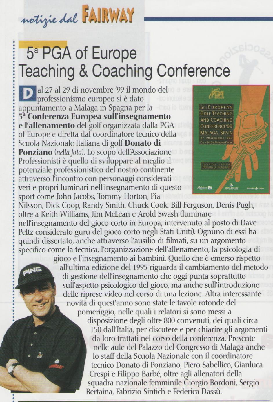 5° PGA of Europe Teaching & Coaching Conference
