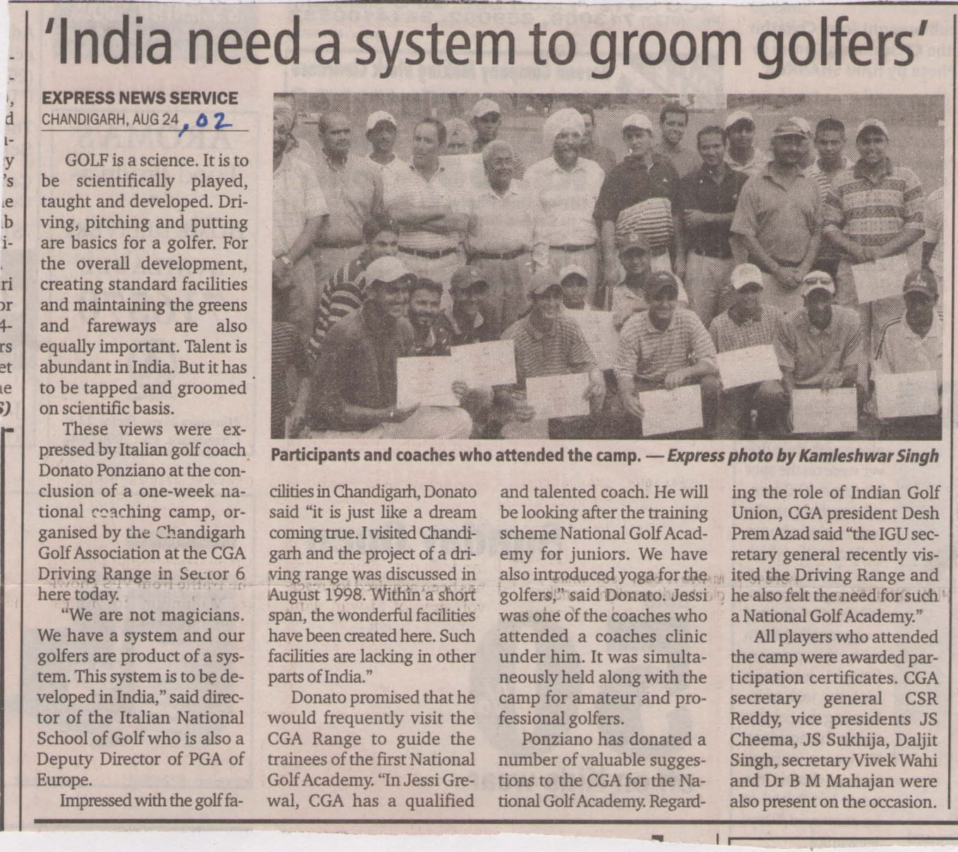 """India needs a system to groom golfers"""