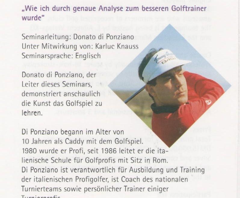 Seminar der PGA of Europe