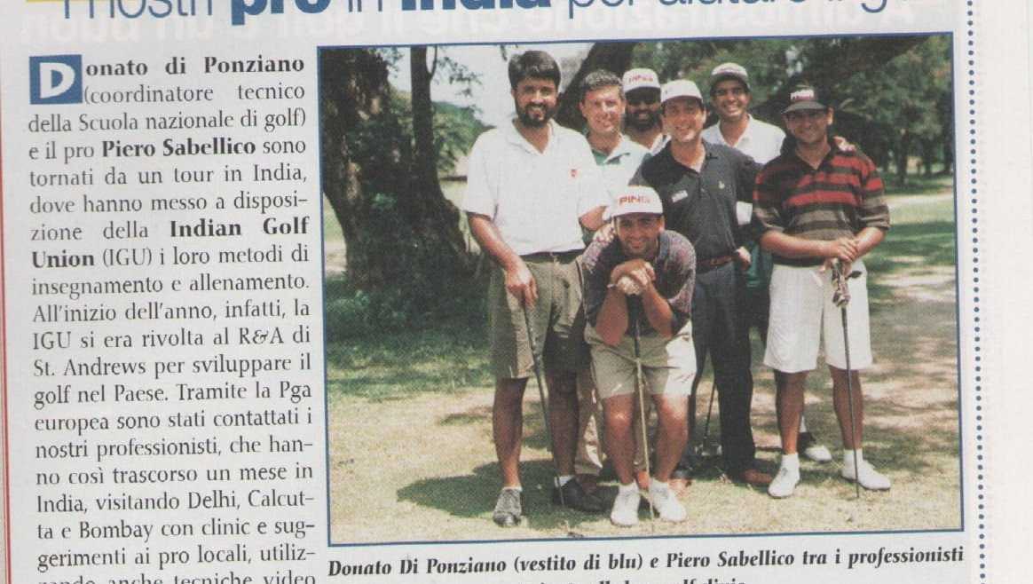 I nostri pro in India per aiutare il Golf