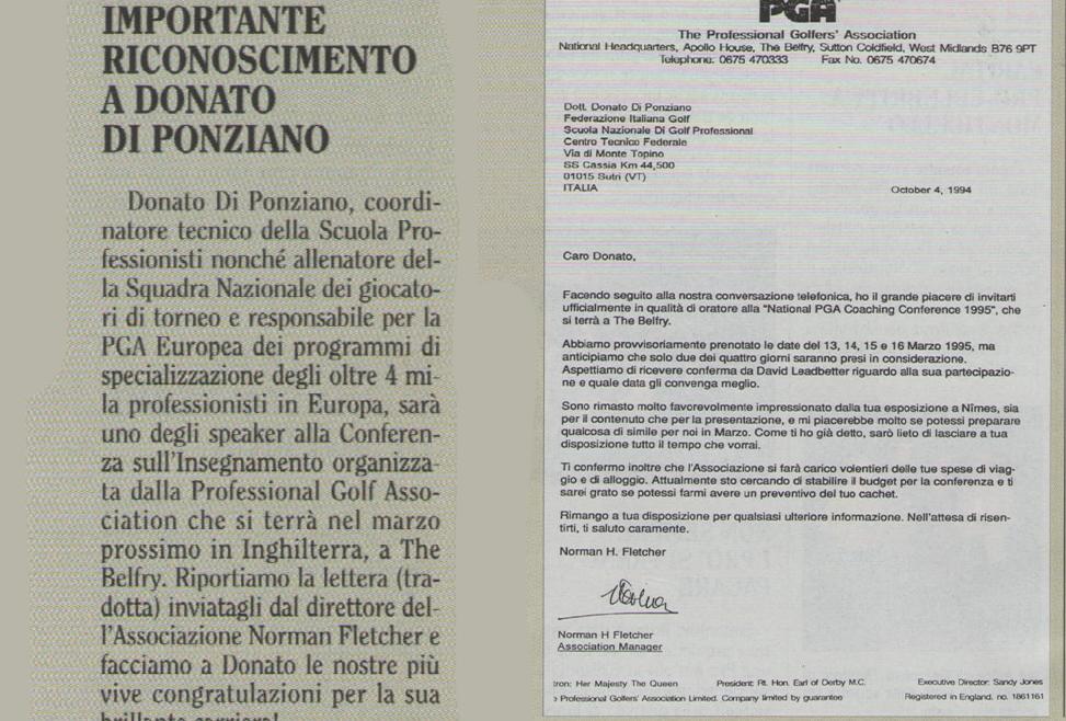 Importante Riconoscimento a Donato Di Ponziano