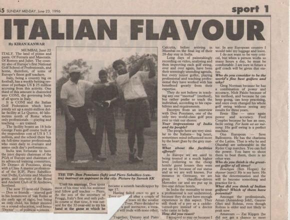 Italian flavour