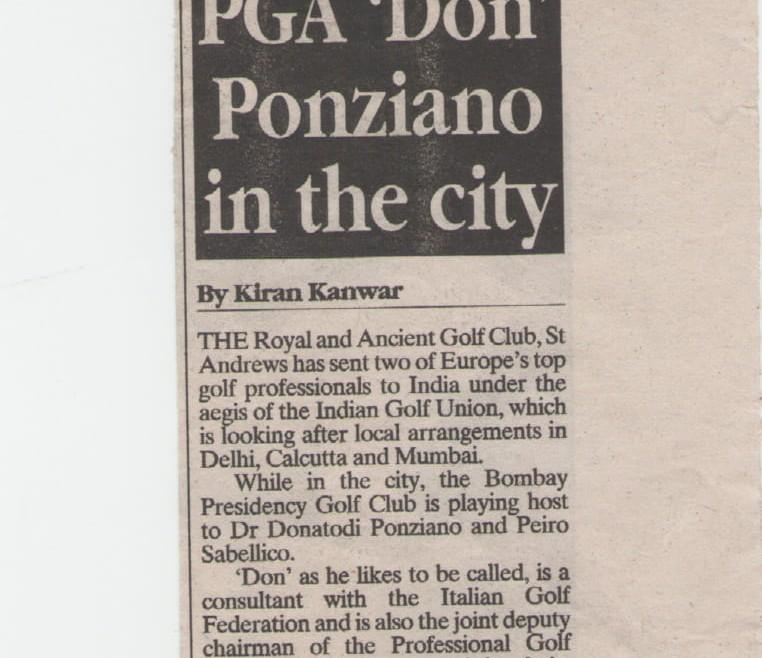PGA 'Don' Ponziano in the city
