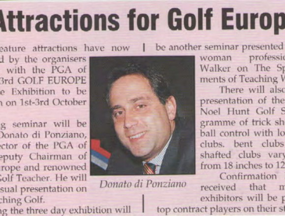 Star attractions for Golf Europe '95