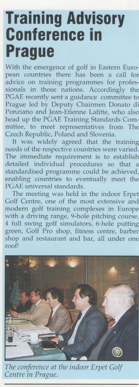 Training advisory conference in Prague